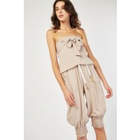 Belted Rope Crop Jumpsuit