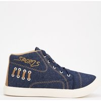 High Top Denim Style Trainers