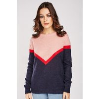 Colour Block Panel Knit Jumper