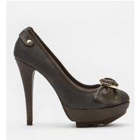 Diamante Encrusted Front Bow Heels