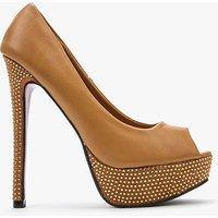 Open Toe Encrusted Heels