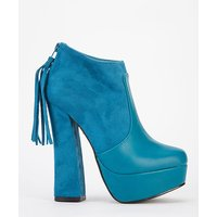 Tassel Back Block Heeled Boots