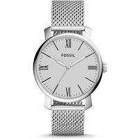 Fossil Unisex Rhett Three-Hand Stainless Steel Watch Silver/White - One size