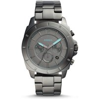 Fossil Unisex Privateer Sport Chronograph Smoke Stainless Steel Watch Grey - One size