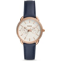 Fossil Women Tailor Multifunction Navy Leather Watch Blue/Silver - One size