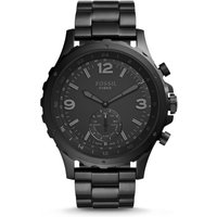 Fossil Men Hybrid Smartwatch - Nate Black Stainless Steel - One size
