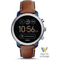 Fossil Men Gen 3 Smartwatch – Explorist Luggage Leather Blue - One size