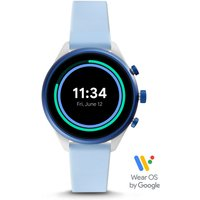 Fossil Women Fossil Sport Smartwatch - 41Mm Light Blue Silicone White/Blue - One size