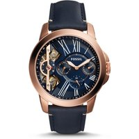 Fossil Men Grant Twist Three-Hand Blue Leather Watch - One size