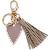 Heart Tassel Keyfob Cream