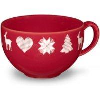 Friesland Kaffeetasse 0,24l Happymix Winterzauber Rot