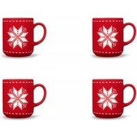 Friesland 4er-Set Becher Stern Happymix Winterzauber Rot