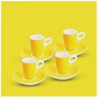 Espresso-Set 8tlg. Alta Gelb Walküre Porzellan