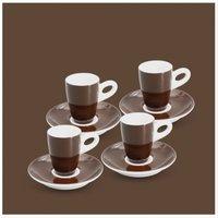 Espresso-Set 8tlg. Alta Dunkelbraun Walküre Porzellan