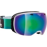 Bekleidung/Brillen: Alpina  Big Horn Skibrille WhiteGreen DoubleFlex Multimirror