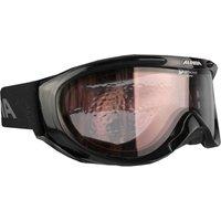 Bekleidung/Brillen: Alpina  Freespirit Skibrille A7008031 Black Transparent Quattroflex