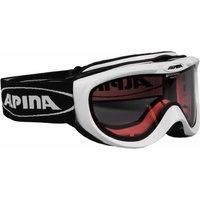 Bekleidung/Brillen: Alpina  Freespirit Skibrille A7008013 White Quattroflex S1