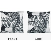 Botanical Fern Print Two Cushion