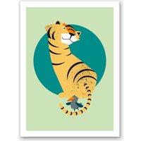Friends Tiger and Bird Art Print