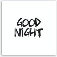 Good Night Square (White) Art Print