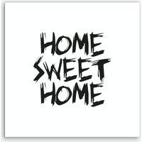 Home Sweet Home Square (White) Art Print
