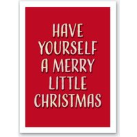 Merry Litte Christmas Retro Art Print