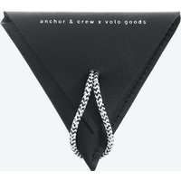 Graphite Black Dunster Leather And Rope Coin Purse