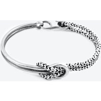 White Noir Tay Silver and Rope Half Bangle