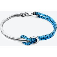 Blue Noir Tay Silver and Rope Half Bangle