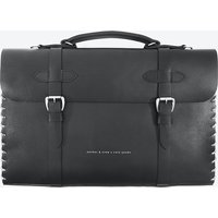 Large Graphite Black Rufford Leather And Rope Briefcase