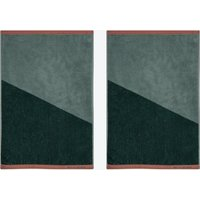 Shades Guest Towel (Set of 2) in Pine Green