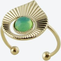 Gold Art Deco inspired Ring in Mint