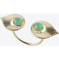 Gold Art Deco Style Floating Ring in Mint