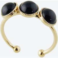 Gold Cabochons Ring in Black
