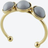 Gold Cabochons Ring in Grey
