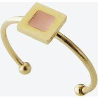 Tiny Square Ring in Blush