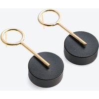 Alicia Small Earrings Gold & Black