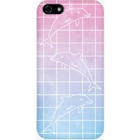 Dolphin Grid Remix iPhone Case