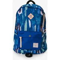 Chameleon Backpack In Blue And Black Feathers