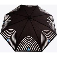 Starlight Umbrella In Silver & Turquoise