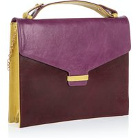 Fitzrovia Clutch In Grape & Burgundy
