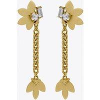 Aksama Short Chain Earrings In Gold