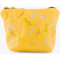 Becher Leather Makeup Bag In Yellow