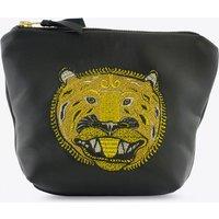 Brutus Leather Makeup Bag In Black
