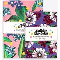 Pink Palms & Purple Botanical Notebook Bundle