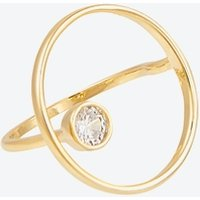 Sleek Gold Adjustable Circle Ring