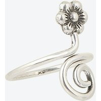 Sterling Silver Nail Ring Flower