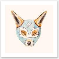 Andrew the Fox Wrestler Print