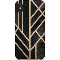 Art Deco Geometry Black iPhone Case
