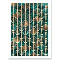 Art Deco Tiles - Ocean Art Print